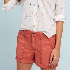 Anthropologie | The Wanderer Coral Bermuda Shorts